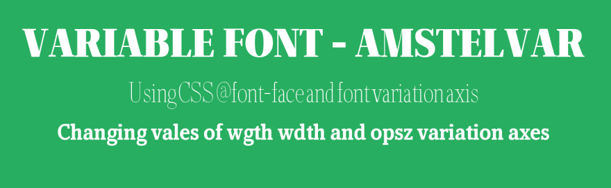 Support For Variable Fonts