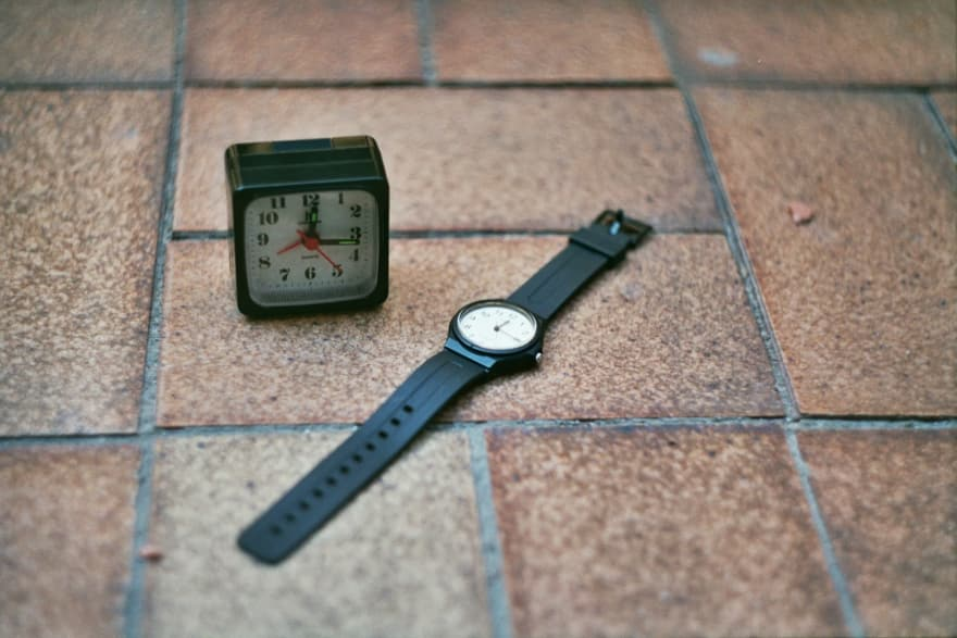 quartz clock and alarm clock