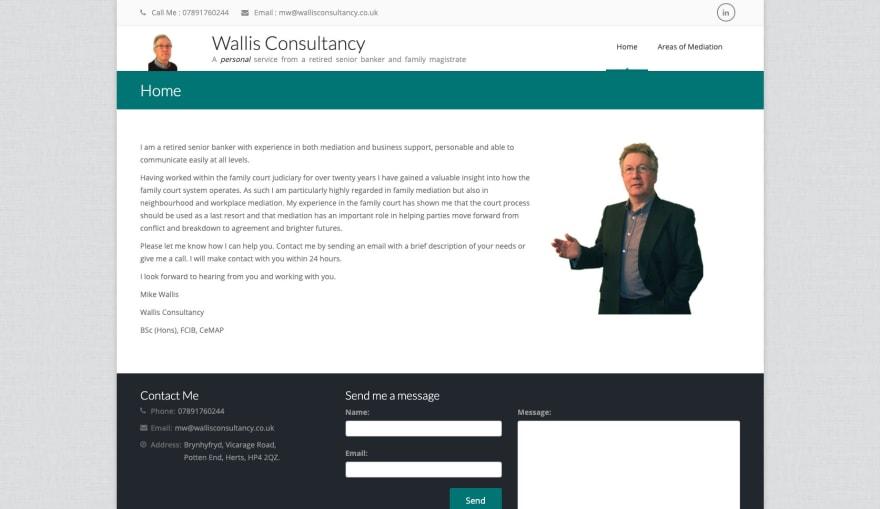 The current Wallis Consultancy website