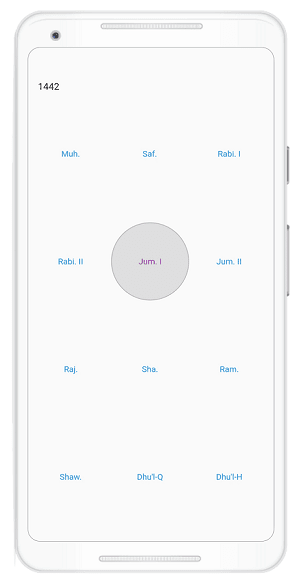 Year cell customization