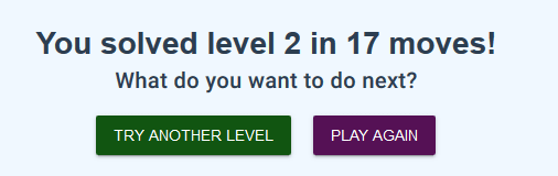 17 clicks to solve level 2