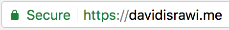 Site after changing protocol to HTTPS