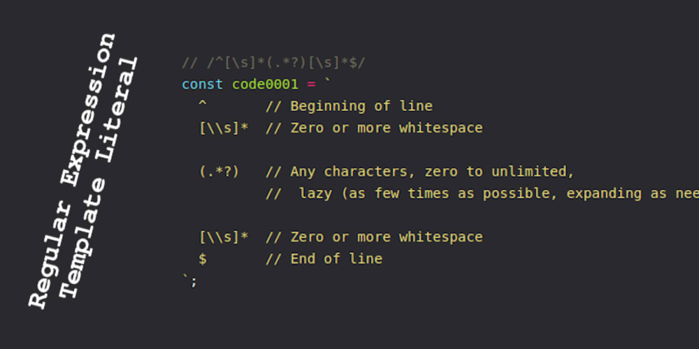 Regular Expressions And Template Literals - DEV Community 👩 💻👨 💻