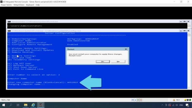 Finding your way through Hyper-V Server settings