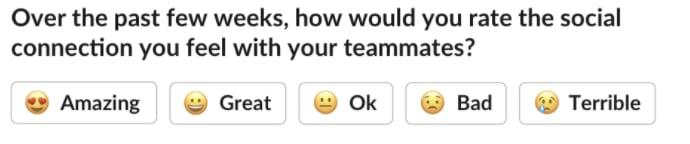 Pre-formed Emoji Poll Design