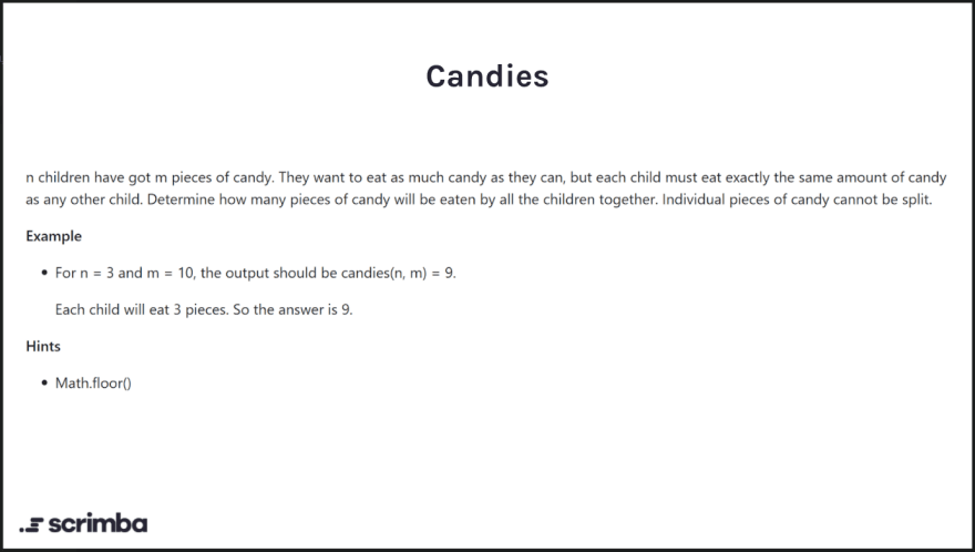 description of candies challenge
