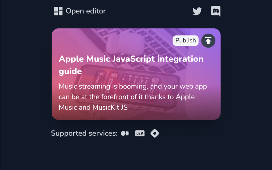 CodeWrite pop-up in dark mode