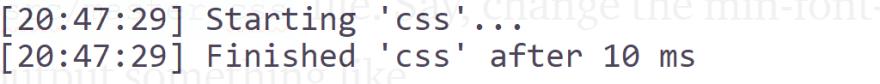Gulp terminal process snapshot