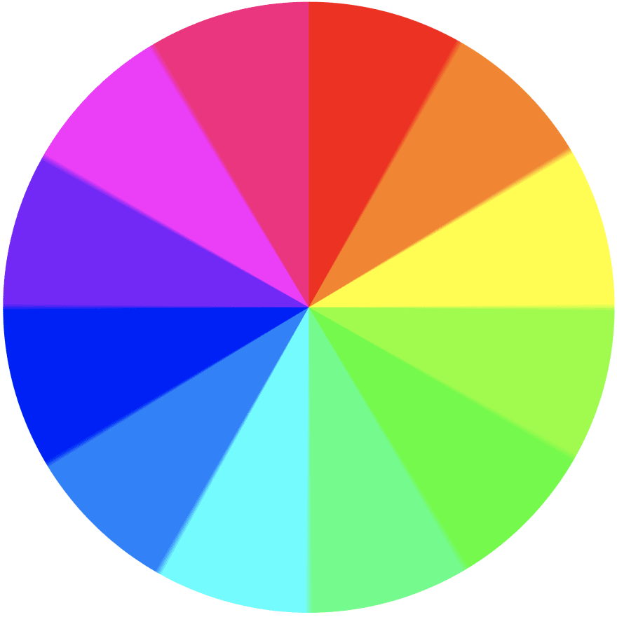Color Wheel, using conical gradient