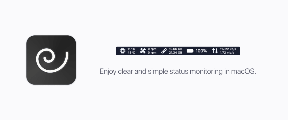 Cover image for macOS status monitoring app written in SwiftUI
