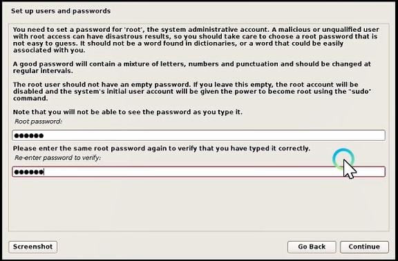 set up user and passwords