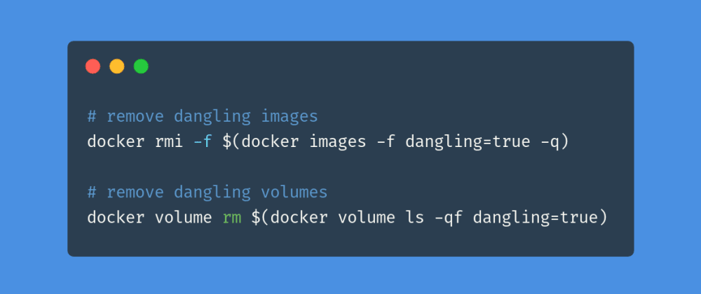 Cover image for Free up disk space by running these docker commands