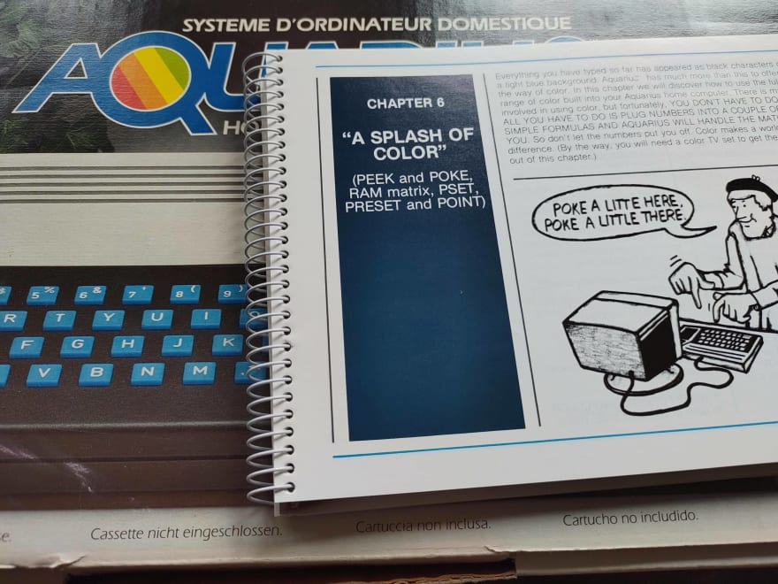 A home computer and its manual