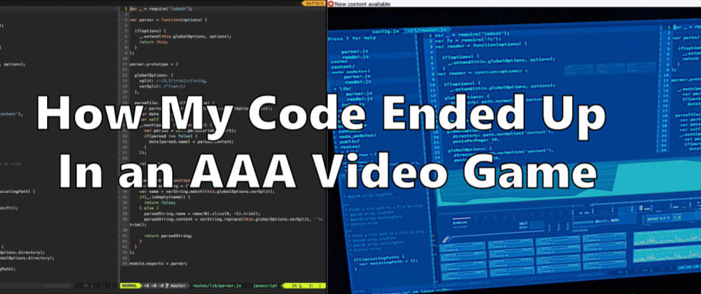 Cover image for How My VIM Setup and Open Source Code Ended Up In an AAA Video Game