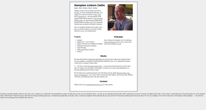 Hampton Catlin's portfolio website