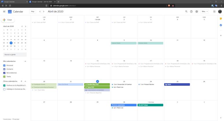 Google Calendar. Una herramienta para crear hábitos