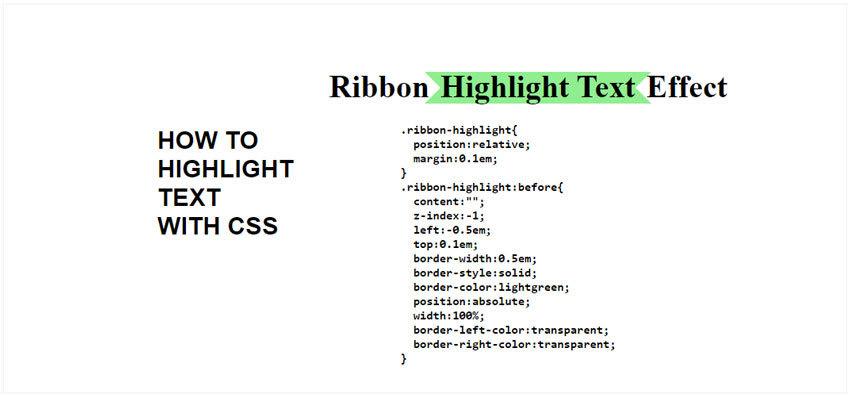 Ribbon CSS Highlight Text Effect