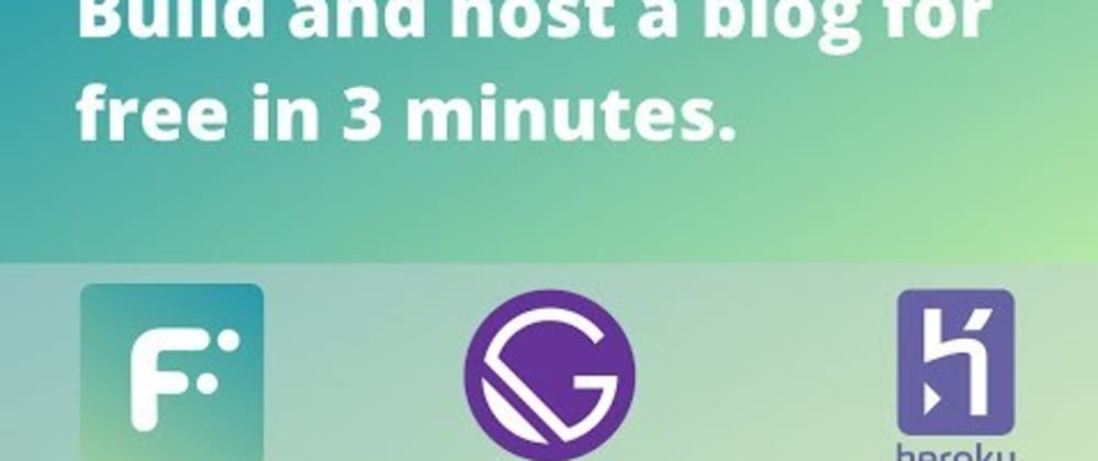 Cover image for Building a blog in 3 minutes with Gatsby, Heroku and Flotiq CMS