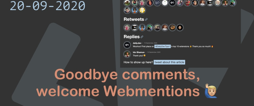 Cover image for Goodbye comments, welcome Webmentions 🙋🏼♂️