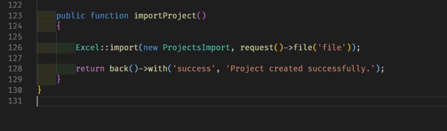 importProject method