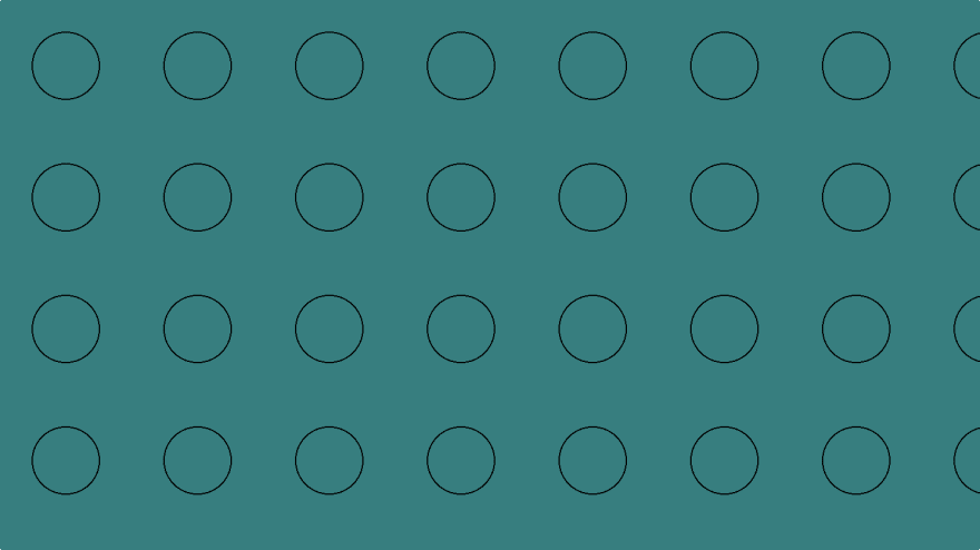 Teal bubble pattern with just CSS