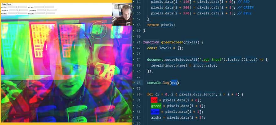 JS30 webcam fun