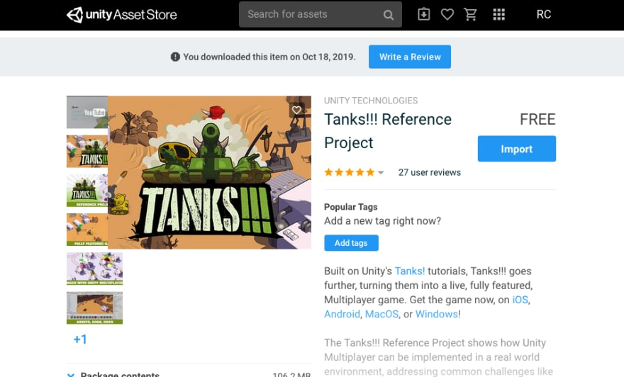 "Searched by ""Tanks Reference"" and download this asset"