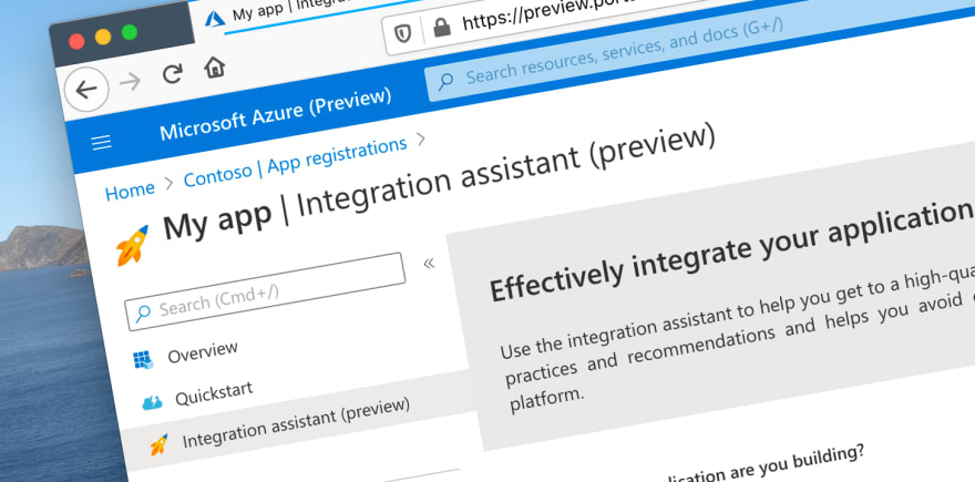 Configure your Azure AD application with Integration assistant