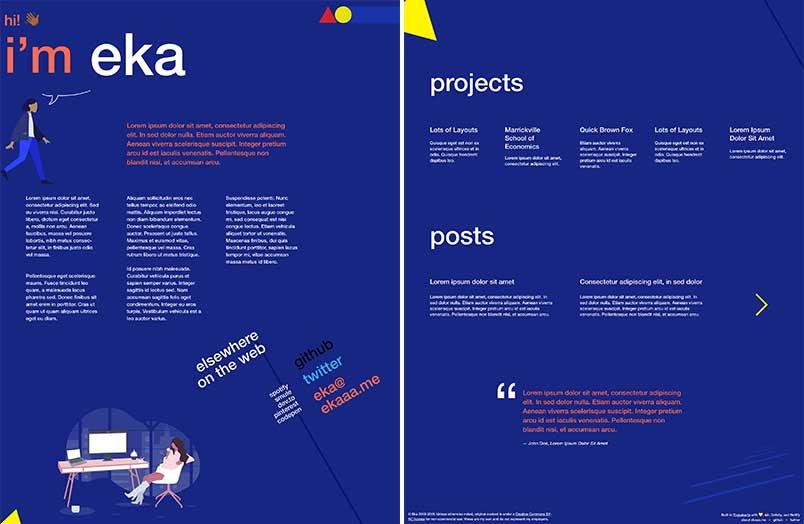ekaaa.me landing page design preview