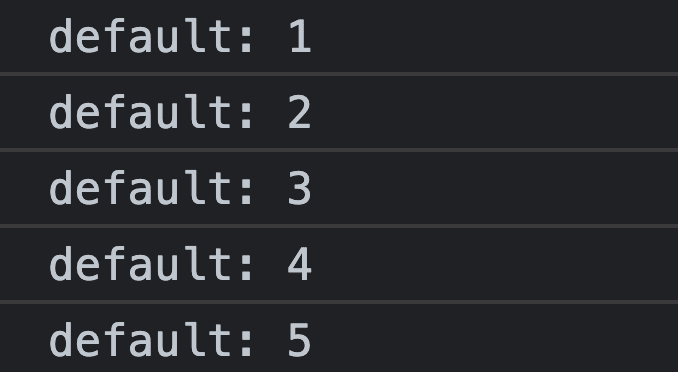 console count without label