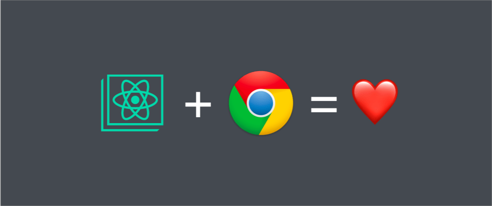 Cover image for use create-react-app to develop Chrome extensions