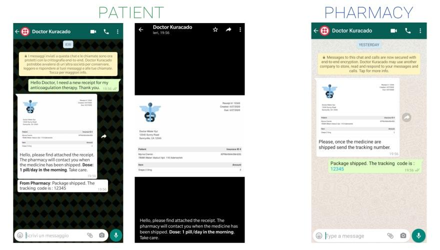 Phone views. Patient + Pharmacy