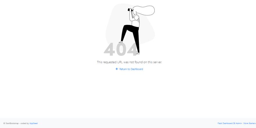 Sb Admin Flask - Error 404 page.