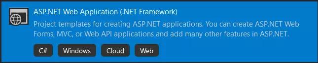 ASP.NET Web Application (.NET Framework)