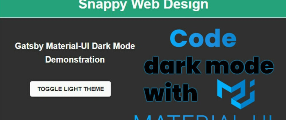 Cover image for How to Code a Dark Theme with MaterialUI
