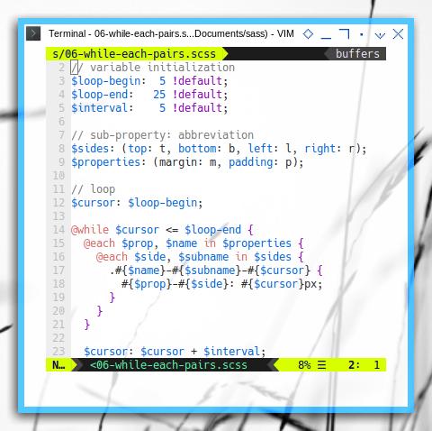 SASS loop spacing class