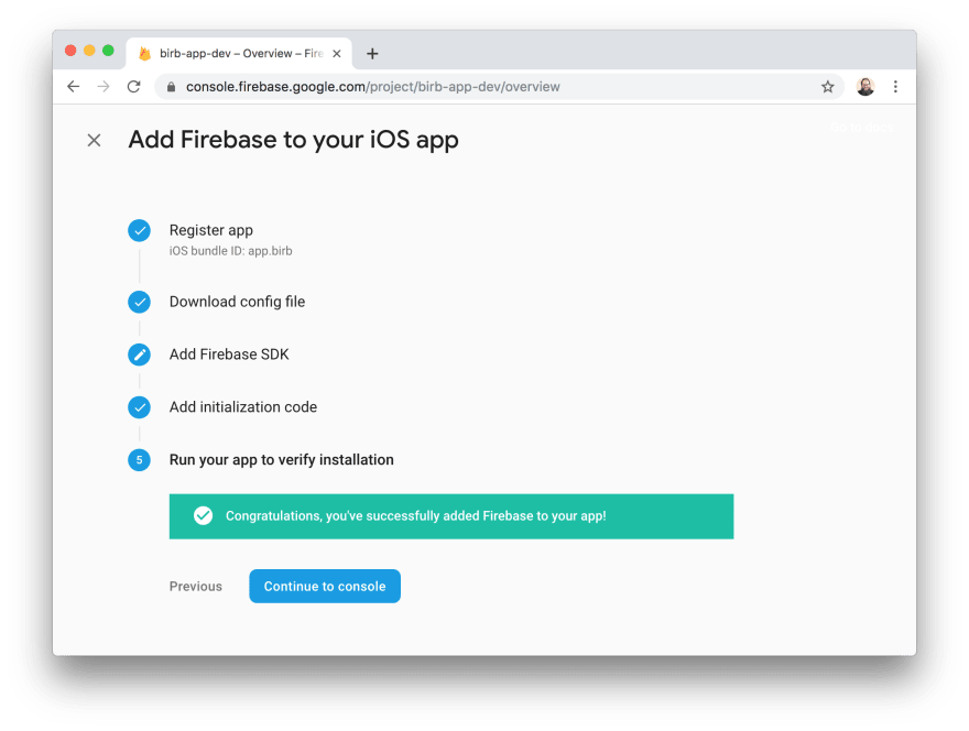 adding Android app to Firebase project
