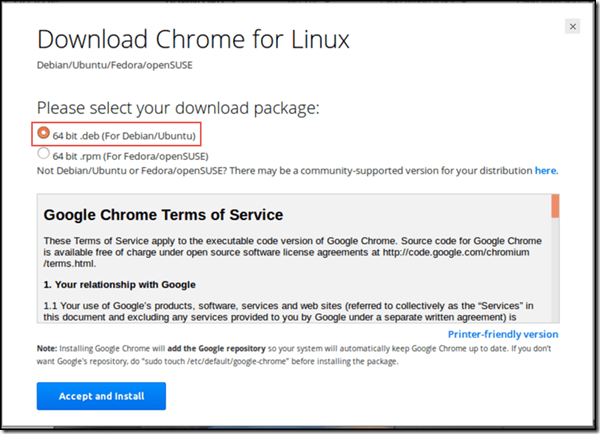 Download Google Chrome for Linux - 64 bit .deb for Debian and Ubuntu