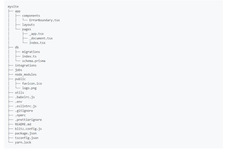 Blitz.js App Structure
