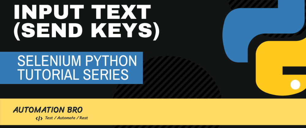 Cover image for Selenium Input Text Python