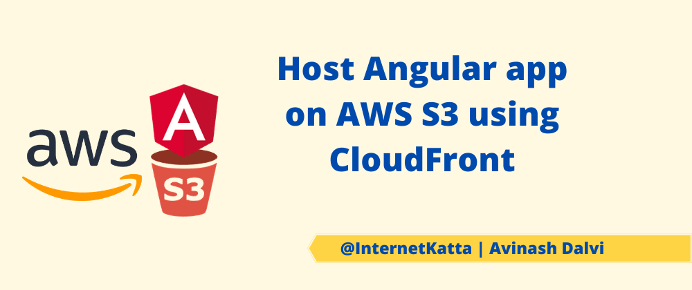 Cover image for Host Angular app on AWS S3 using CloudFront