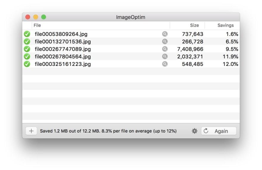 ImageOptim app results