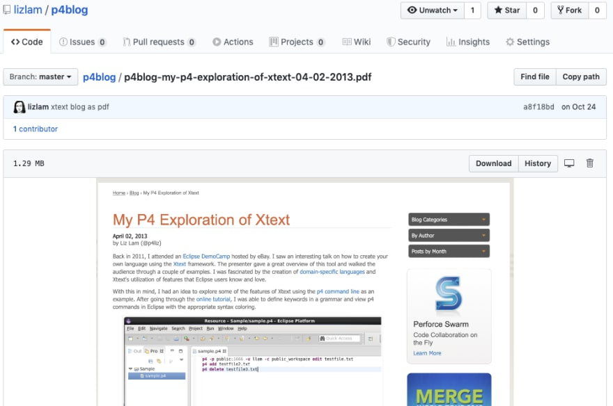 Blog in GitHub