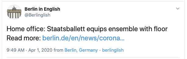 Example's Tweet