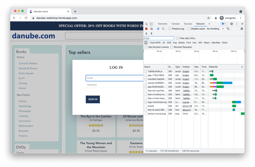 debugging with chrome devtools
