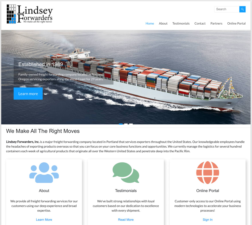 Lindsey Forwarders home page