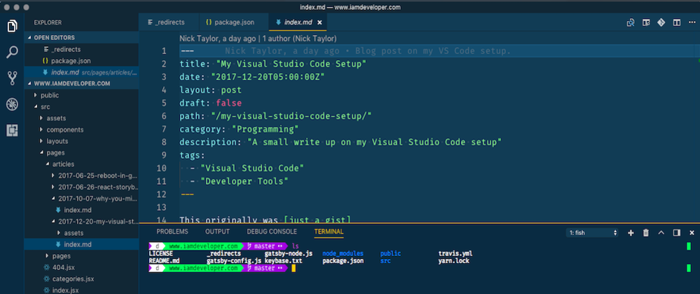 Cover image for My Visual Studio Code Setup