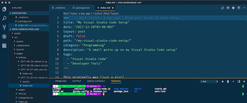 Cover image for My Visual Studio Code Setup