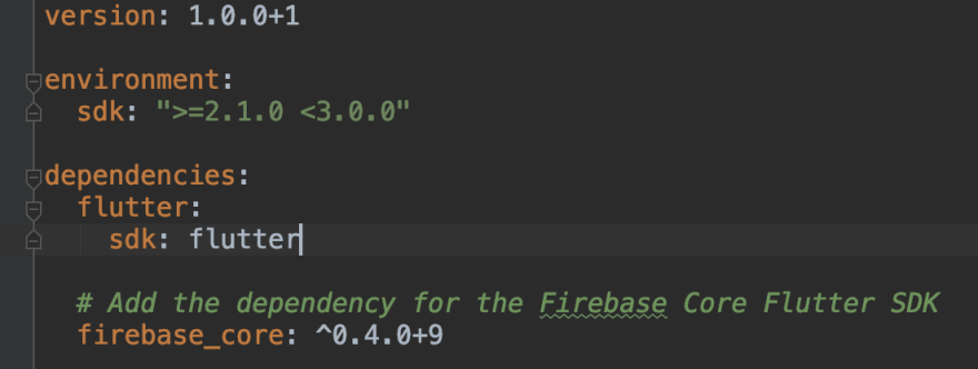 add Firebase Core