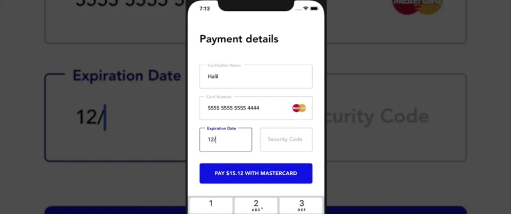Cover image for React Native Form Management Tutorial - Building a credit card form
